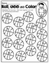 Basketball Preschool Activities Fun Dice Roll Math Kindergarten Activity Printable Practice Classroom Crafts Interactive Moffattgirls Nouns sketch template