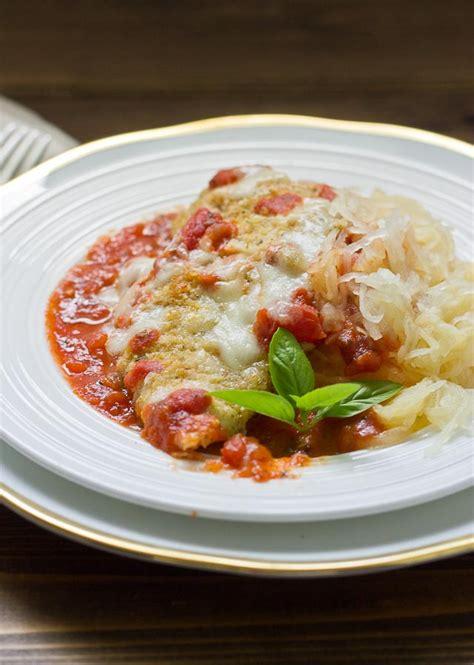 chicken parmesan spaghetti squash chicken parmesan with spaghetti squash love zest