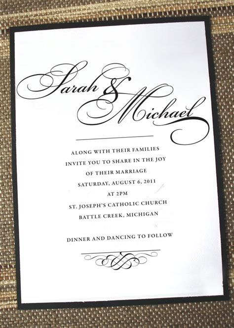 Elegant wedding invitations formal wedding invites