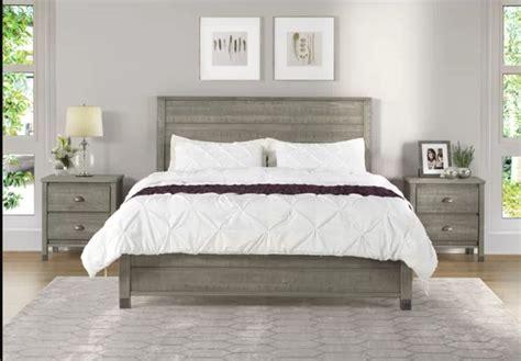 bed grey platform rustic wayfair wood beds bedroom bedias solid baja sets headboard low furniture greyleigh footboard
