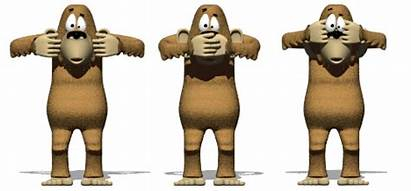 Hear Speak Evil Monkeys Animated Moving Animations