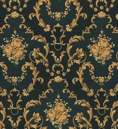green  gold victorian pattern wall  wallwallpaper