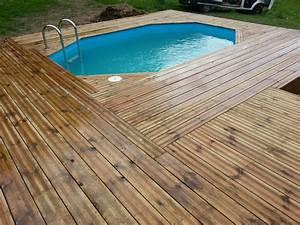 Bois Terrasse Piscine : terrasse bois autour d une piscine octogonale nos conseils ~ Edinachiropracticcenter.com Idées de Décoration