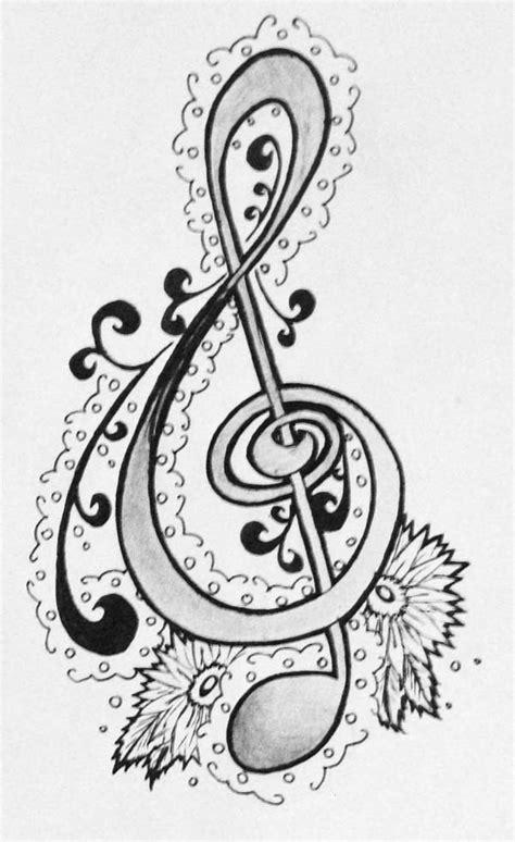treble clef hand drawing coloring page color luna