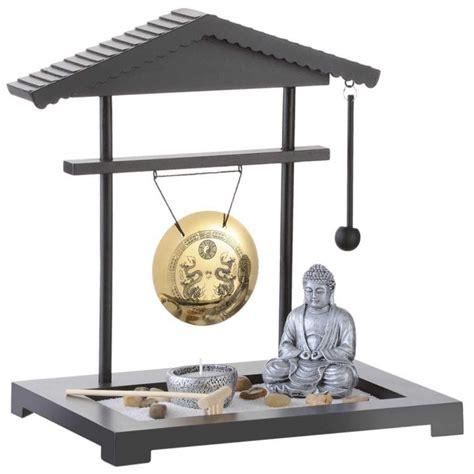 Japanischer Garten Gong by Zen Garten Gong Miniatur Deko Mit Buddhafigur F 252 R Zu Hause