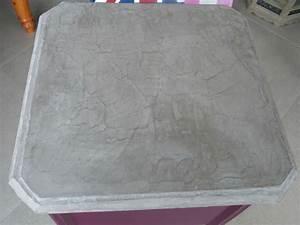 Beton Cire Deco : b ton cir sur un meuble st phanie et l onore d co ~ Premium-room.com Idées de Décoration