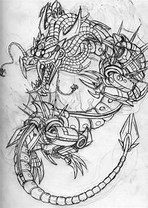 Robot Dragon sketch by Tibby101 on DeviantArt