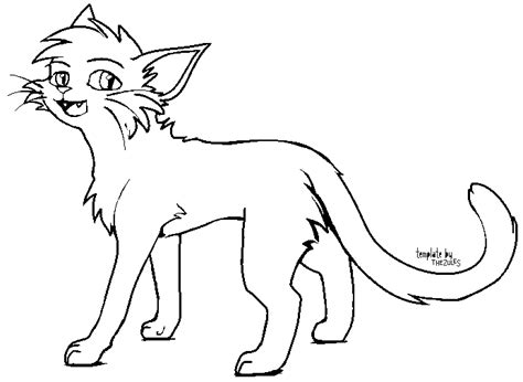 warrior cat template warrior cat base ms paint for pictures to pin on pinsdaddy