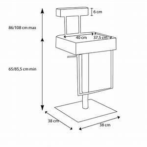 Hauteur D Assise : tabouret de bar ou de cuisine moderne cayman mobilier moss ~ Premium-room.com Idées de Décoration