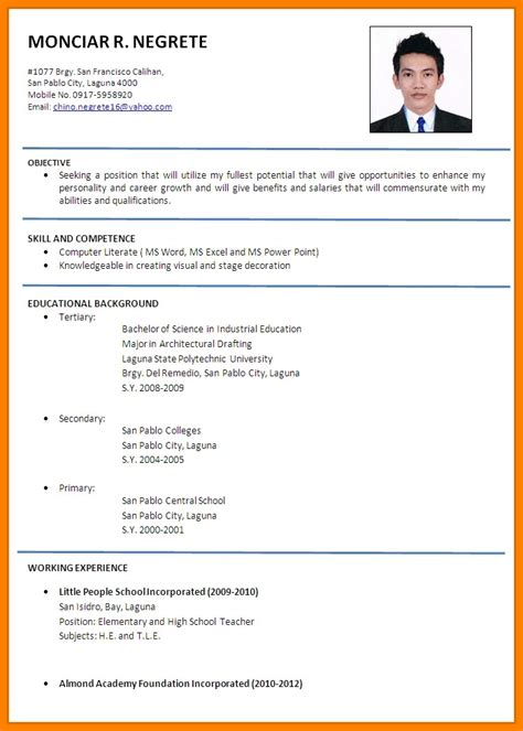 6 how to write a cv in exle barber resume