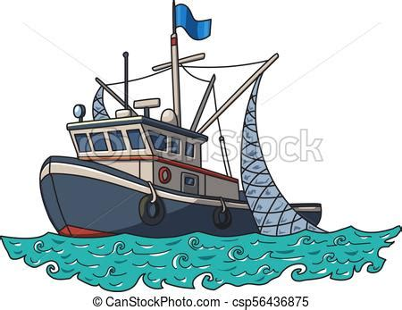 Fishing boat in the sea. vector illustration isolated on ...