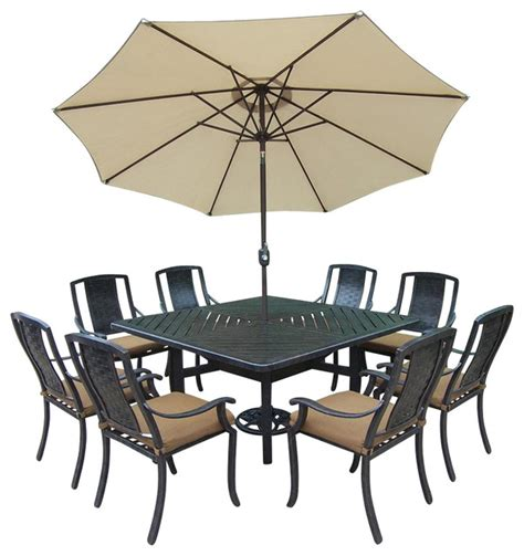 11 pc patio dining set 11 pc dining set contemporary outdoor dining sets by