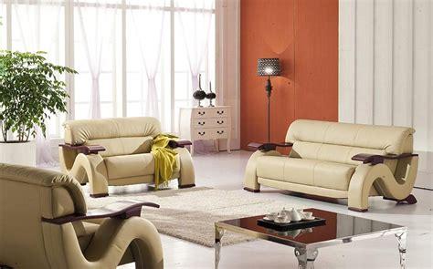 thad beige ultra modern formal living room sets