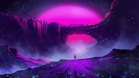 Purple Arch 1920x1080 Otaku Wall