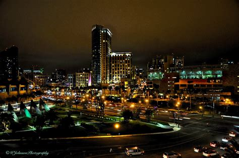 downtown san diego city lights