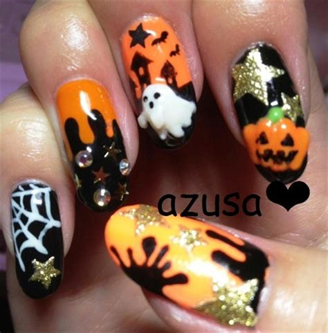 halloween nail nail art gallery