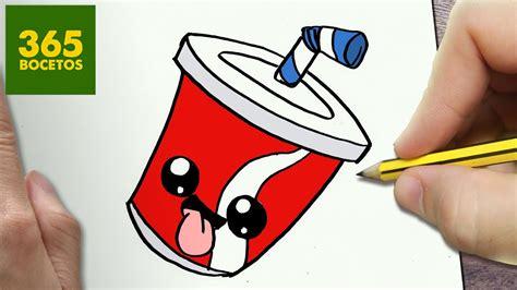 como dibujar refresco kawaii paso  paso dibujos kawaii faciles   draw  soda youtube