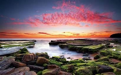Sunset Coast Coastal Fondos Escritorio Sundown 4k