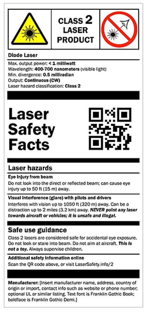 laser light warning label class 2 labels laser safety facts