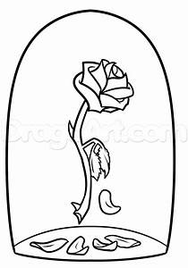 beauty and the beast rose drawing step 7 | Beauty and the ...