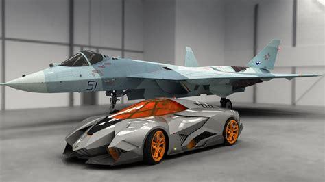 Lamborghini Egoista Supercar And Fighter 4k Background