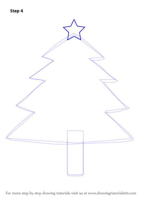 learn   draw decorated christmas tree christmas