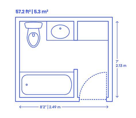 Bathroom Designs Dimensions by Bathroom Layouts Dimensions Drawings Dimensions Guide