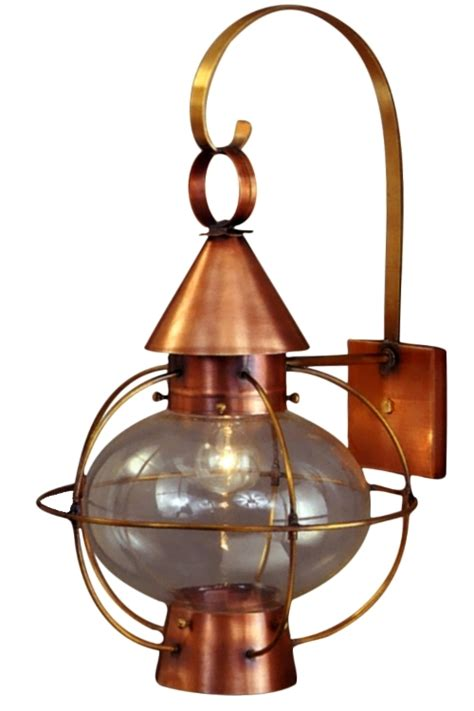 cape cod lantern copper wall light nautical rustic