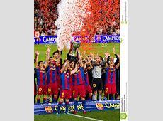 FC Barcelona Spanish League Champion Editorial Photo
