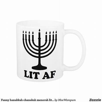 Hanukkah Mug Menorah Zazzle Funny Chanukah Coffee