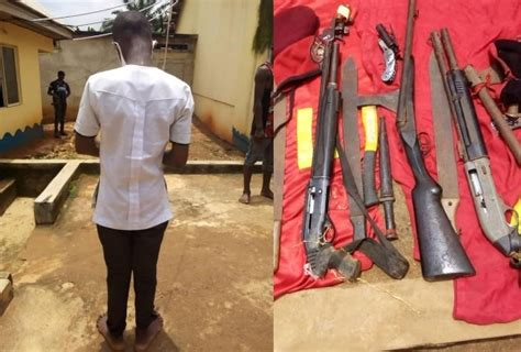 16-year-old Anambra student nabbed with a double-barrel ...