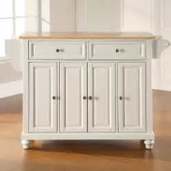 kitchen island lowes shop crosley furniture 52 in l x 18 in w x 36 in h white