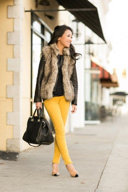 Go With The Faux 10 Ways To Wear A Fur Vest Blonde Mom Blog
