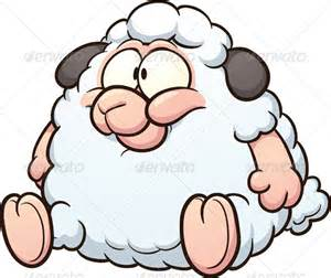 Cute Fat Cartoon Sheep