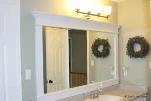 bathroom mirror trim ideas of great ideas framing a builder grade mirror that is not between two walls