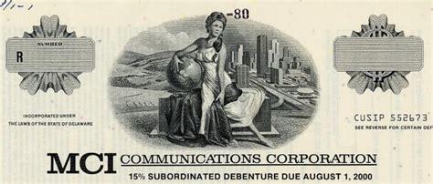 MCI Communications Corporation ( RARE Specimen Bond) Pre ...