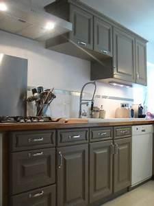 cuisine rustique peinte en taupe With peinture murale couleur lin 3 cuisine taupe 51 suggestions charmantes et tras tendance