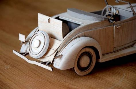 ford roadster  detail  scaled car model balsa