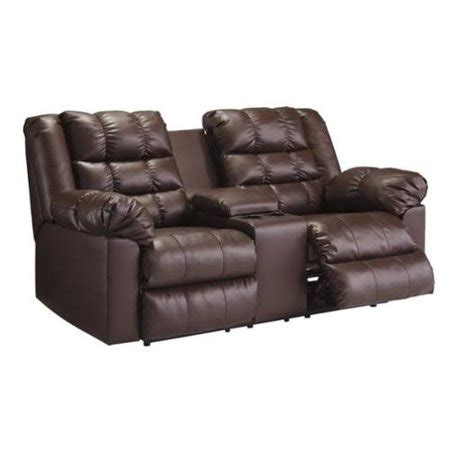 Leather Dual Reclining Loveseat With Console brolayne leather reclining console loveseat