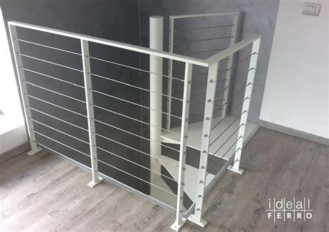 ringhiera interna moderna ringhiera in ferro con cavi in acciaio inox idealferro