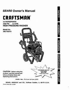 Craftsman 580 762010 User Manual