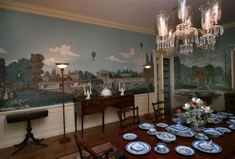 french restoration historic mural  manor house
