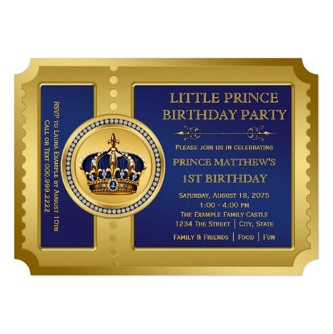 Royal Prince Birthday Party Invitation LadyPrints