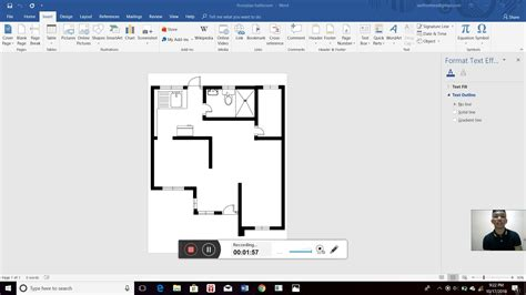 How to make a floor plan in Ms Word YouTube