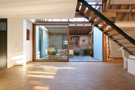 scheune umbauen ideen umbau scheune k modern wohnbereich stuttgart w3 architekten