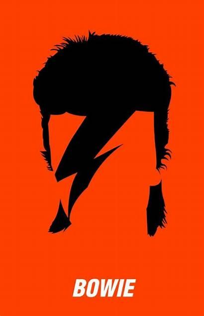 Bowie David Silhouette Artists Milk Aladdin Sane