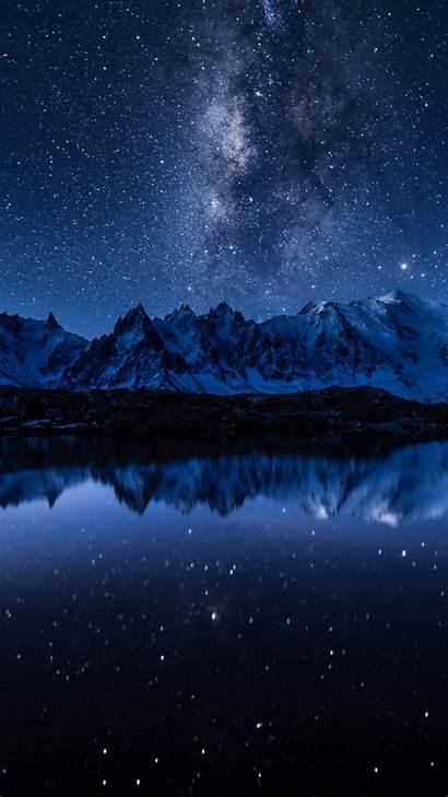 Milky Way 5k Stars Mountains Lake Wallpapers