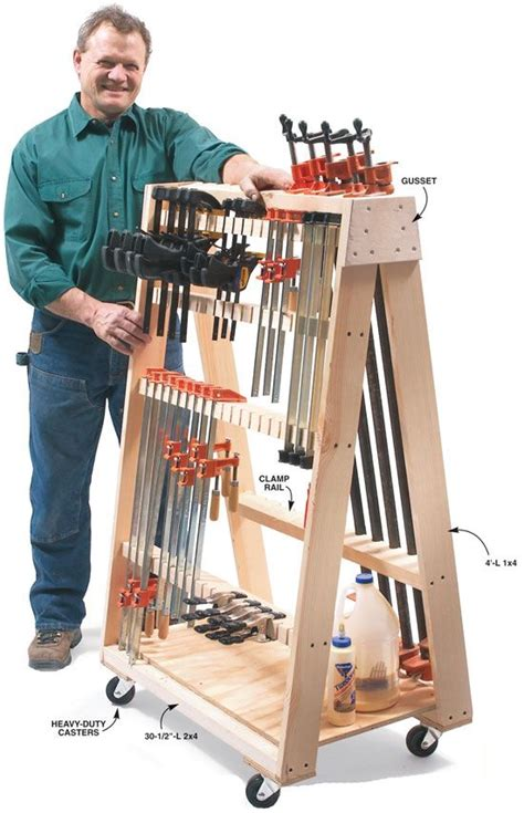 mobile clamp rack popular woodworking woodworking