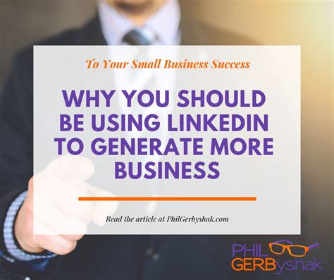 why you should be using linkedin to generate more business