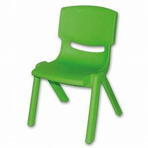 Chaise Scandinave Verte : bieco chaise enfant verte en plastique ~ Teatrodelosmanantiales.com Idées de Décoration